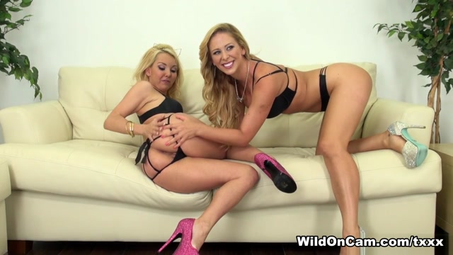 Aaliyah Love & Cherie Deville in Blondes Aaliyah and Cherie - WildOnCam