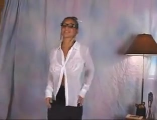 Christina Marie Hoplins Christina Model Secretary white bra