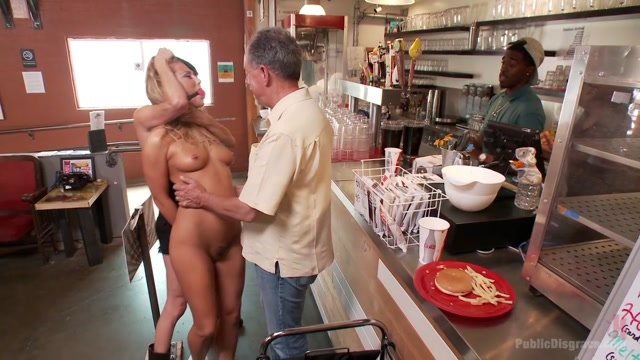 Blond Slut Paraded Around The Room With A Fist In Her Cunt - PublicDisgrace