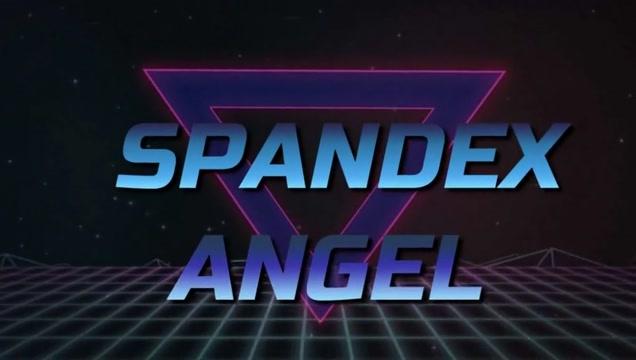 Spandex Angel - Spandex Daisy Dukes & shiny nylons