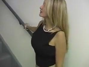 Hot Wife Rio - Stairwell slut