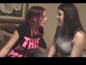 Long tongue lesbos kissing