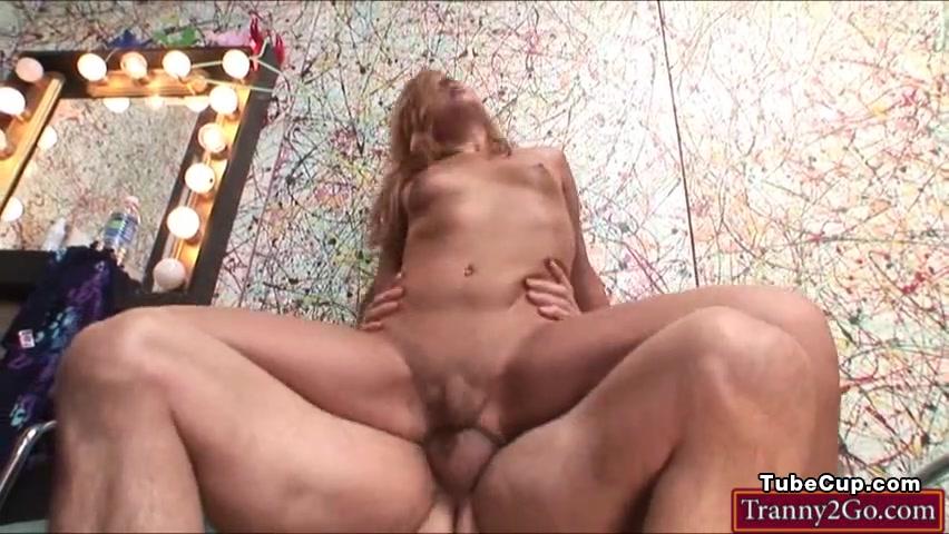 Tranny Khloe Hart gives a blowjob and ass banged by big cock