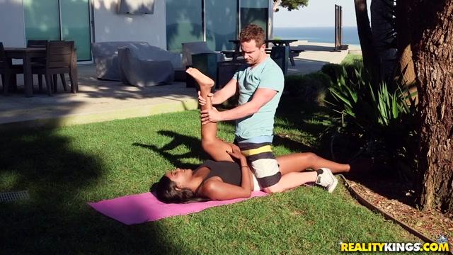 Yara Skye Van Wylde in Naughty Yoga - RoundandBrown