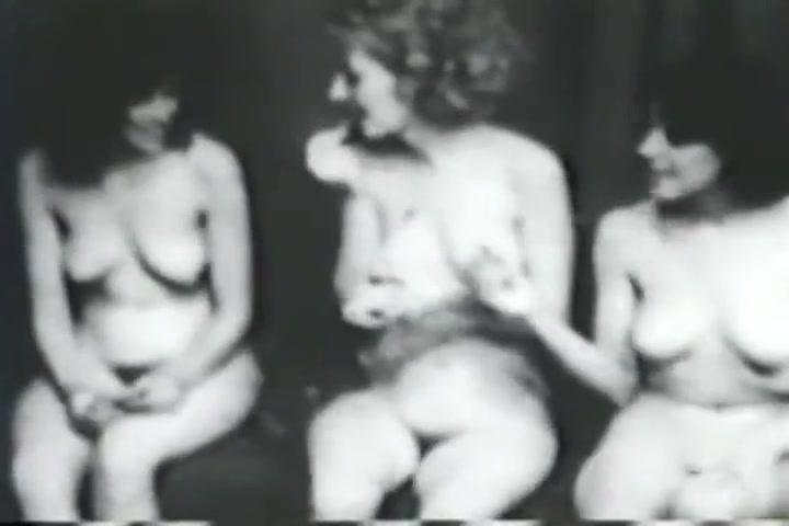 Vintage Nudists! Three Naked Girls