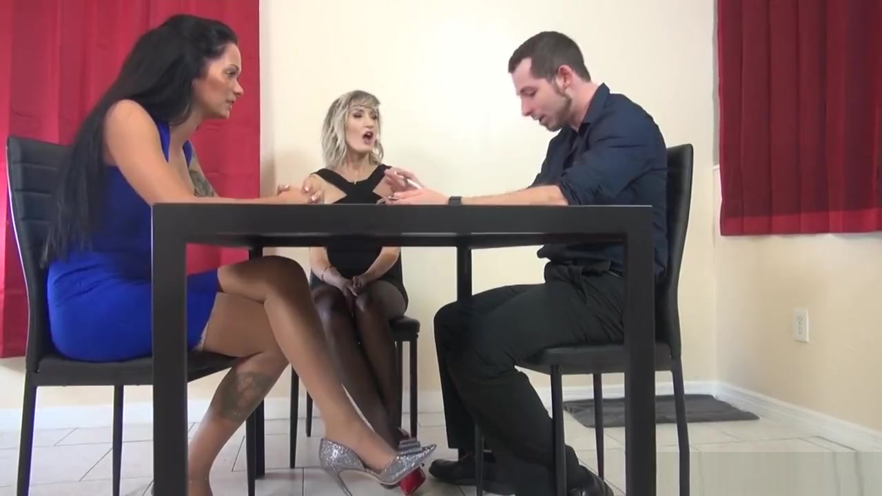Footjob Under The Table