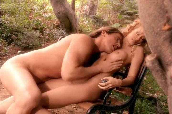 Hot Blonde Jessica Drake Getting Pounded On A Park Bench