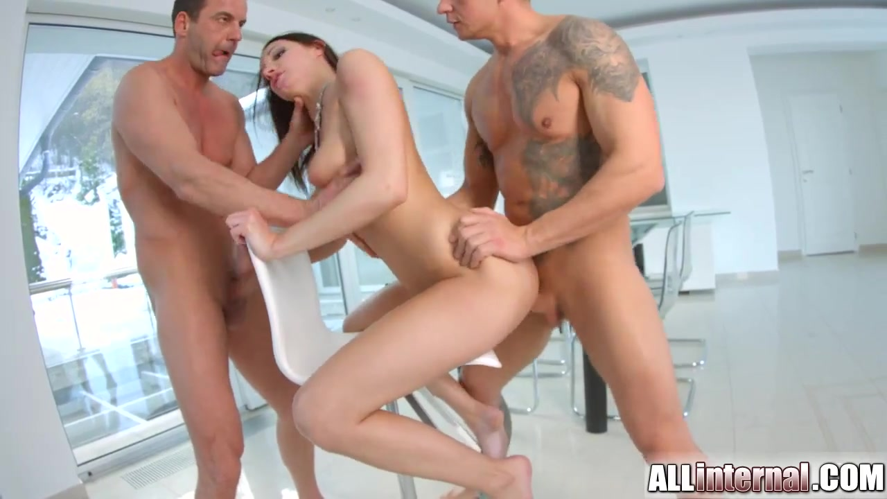 All Internal Double vaginal creampie for cute newcomer