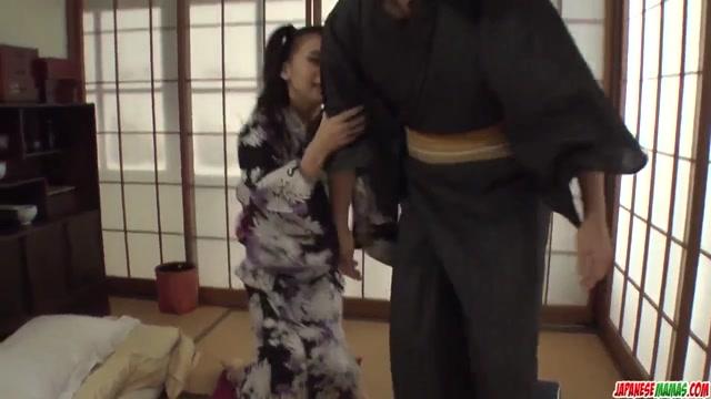 Naughty Yui Oba enjoys man licking and sucking her - More at Japanesemamas.com