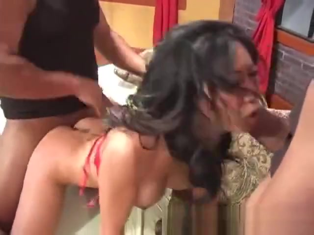 Tia Ling fucked inside out by 2 massive cocks part 2