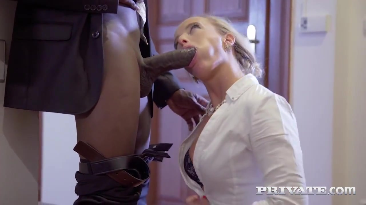 Classy blonde lady, Victoria Pure is fucking a handsome, black guy and enjoyng it a lot