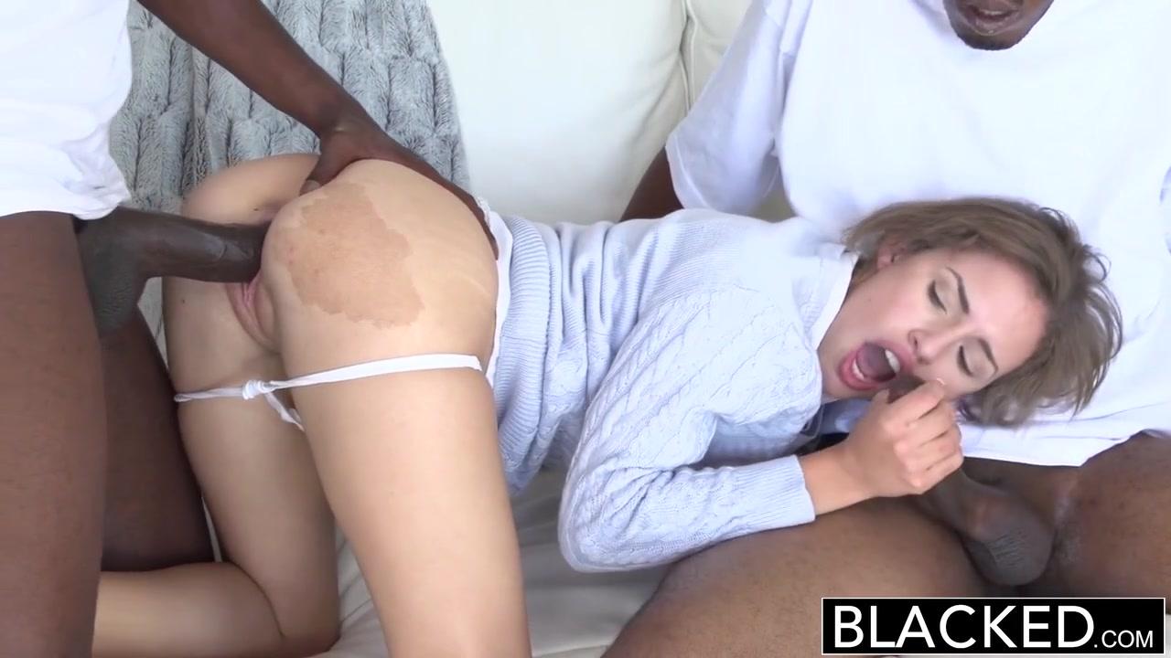 Natasha White has two black cocks to enjoy