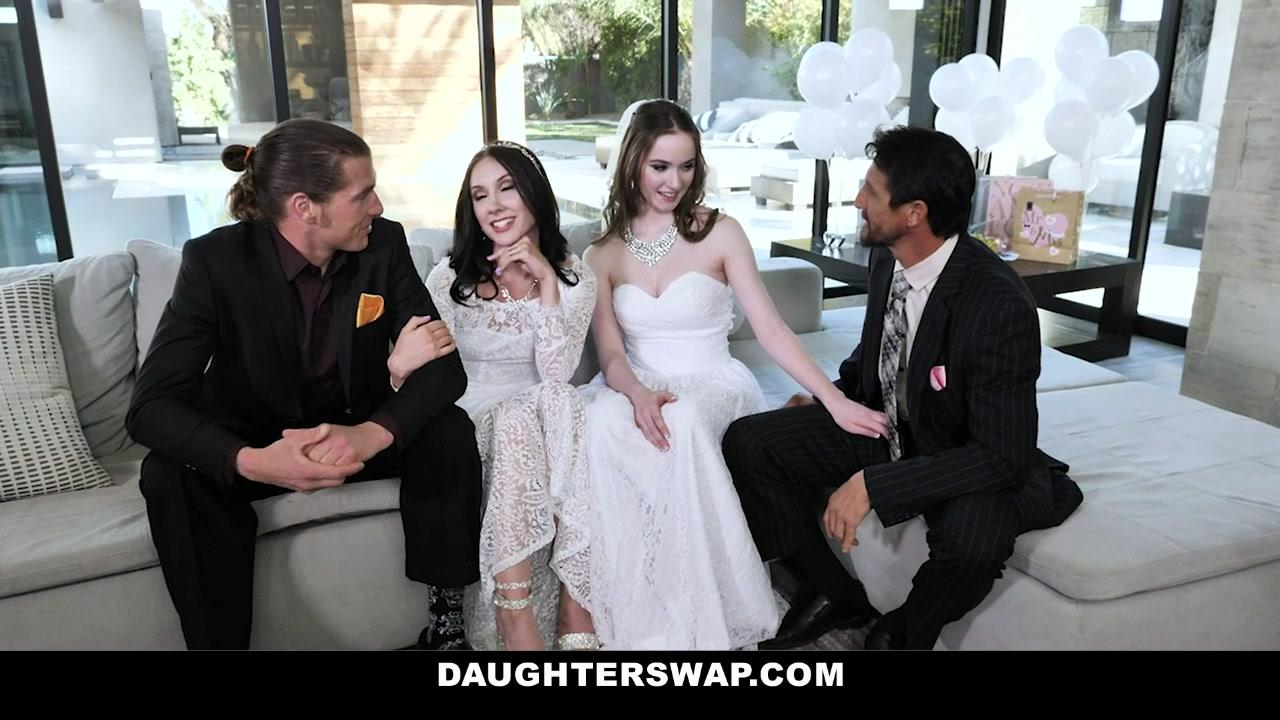 Hazel Moore & Jazmin Luv in An Orgy Before The Wedding - DaughterSwap