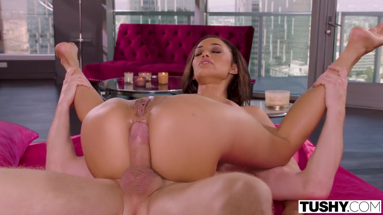 Gia Vendetti likes how a big, stiff cock feels inside her ass, until she cums