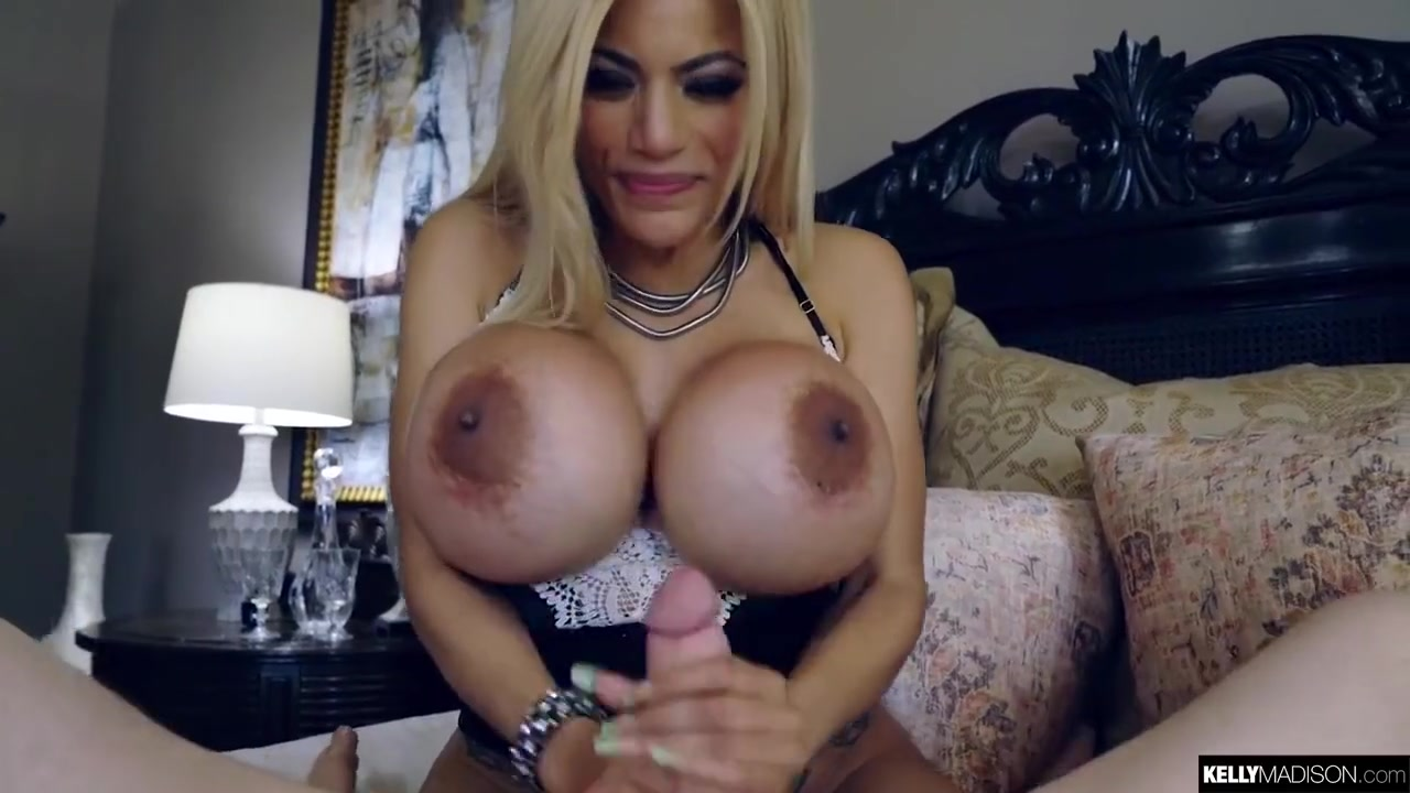 Busty blonde woman, Amber Alena is getting fucked on the floor after sucking dick like a pro