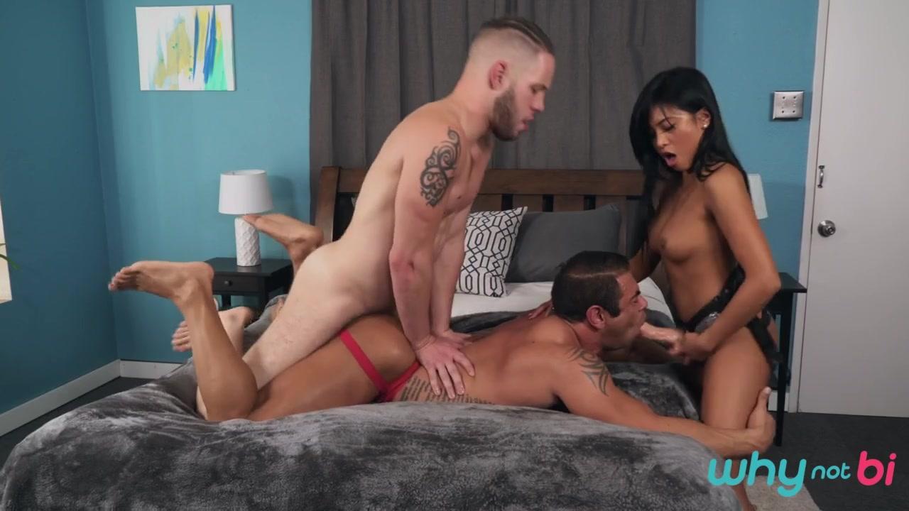 Ember Snow & Draven Navarro & Wolf Hudson in Try Before You Bi - WhyNotBi