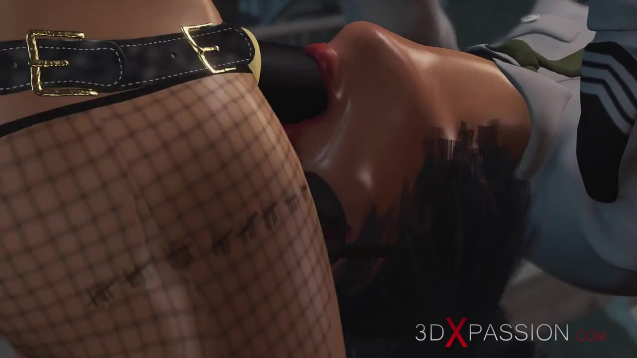 Lesbian sex with strapon. Harley Quinn plays with a female prison officer in the prison