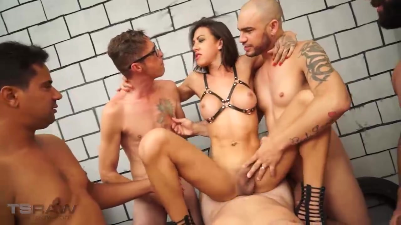 Gabi Ferrari is loaded up with creampies and facialed in this scorching hot gangbang episode